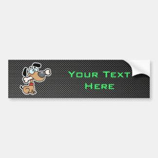 Sleek Cartoon Dog Bumper Sticker