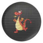 Sleek Cartoon Dragon Melamine Plate
