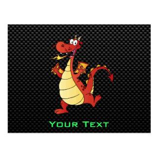 Sleek Cartoon Dragon Postcard