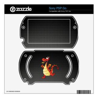 Sleek Cartoon Dragon Skin For Sony PSP Go