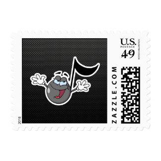 Sleek Cartoon Music Note Stamp