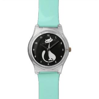 Sleek Cat Design Watch