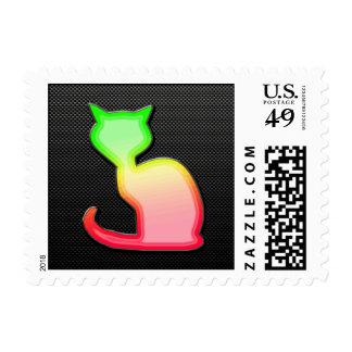 Sleek Cat Stamps