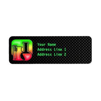 Sleek Chemistry Custom Return Address Label