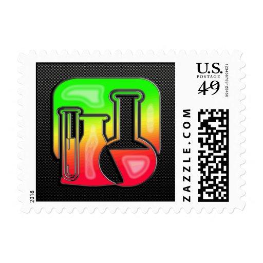 Sleek Chemistry Postage Stamps