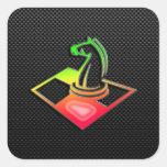 Sleek Chess Square Stickers