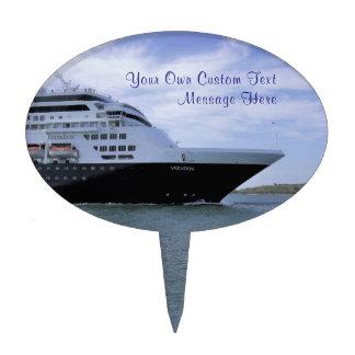 Sleek Cruise Ship Bow Custom Cake Topper