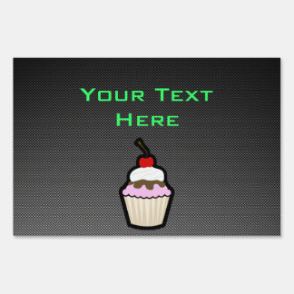 Sleek Cupcake Lawn Signs