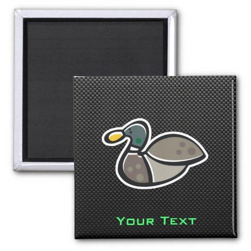 Sleek Duck 2 Inch Square Magnet