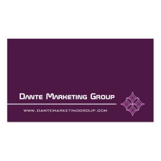 Sleek Embellished Diamond Business Card, Eggplant