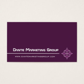 Sleek Embellished Diamond Business Card, Eggplant Business Card
