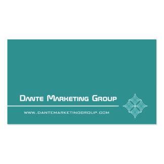 Sleek Embellished Diamond Business Card, Turquoise