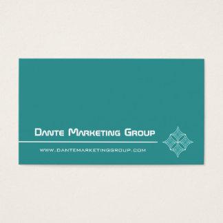Sleek Embellished Diamond Business Card, Turquoise Business Card