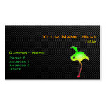 Sleek Flamingo Business Card Template