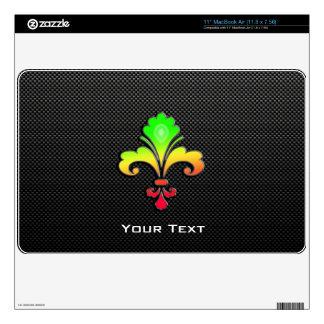Sleek Fleur de lis Decal For MacBook