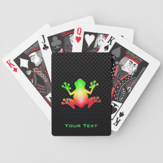 Sleek Frog Bicycle Playing Cards