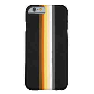 Sleek Gay Bear Pride Flag Ribbon on Black Barely There iPhone 6 Case