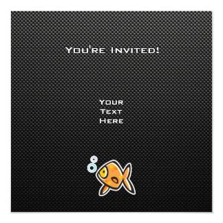 Sleek Goldfish 5.25x5.25 Square Paper Invitation Card