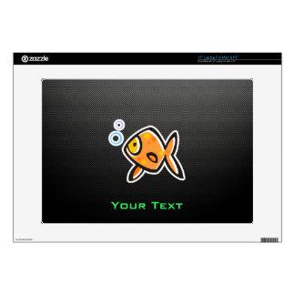 """Sleek Goldfish 15"""" Laptop Decal"""