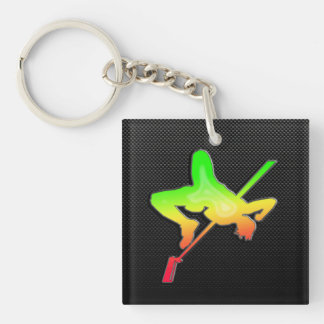 Sleek High Jump Keychain