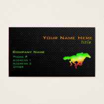 Sleek Horse Racing Business Card