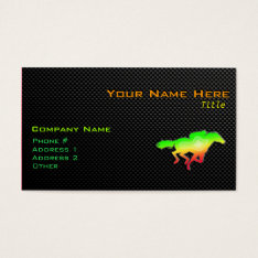 Sleek Horse Racing Business Card at Zazzle