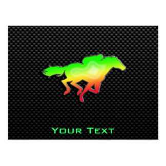 Sleek Horse Racing Post Card