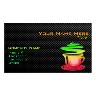 Sleek Hot Coffee Double-Sided Standard Business Cards (Pack Of 100)
