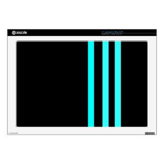 Sleek in Black & Aqua Skin For Laptop
