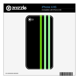 Sleek in Black & Green Decal For The iPhone 4