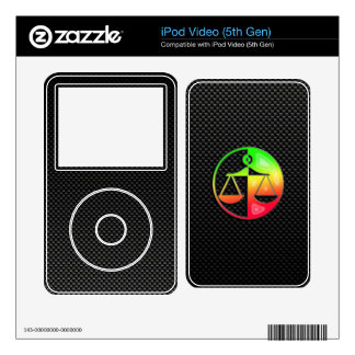 Sleek Justice Scales Decals For The iPod Video