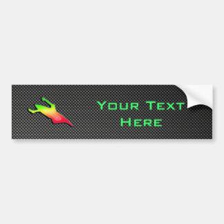 Sleek Kayaking Bumper Sticker