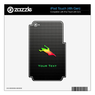 Sleek Kayaking Decals For iPod Touch 4G