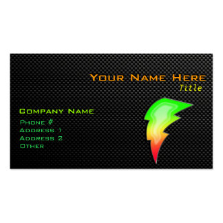 Sleek Lightning Bolt Double-Sided Standard Business Cards (Pack Of 100)