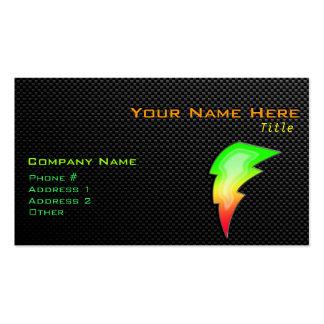 Sleek Lightning Bolt Business Card Templates