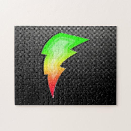 Sleek Lightning Bolt Jigsaw Puzzle