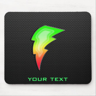 Sleek Lightning Bolt Mouse Pad