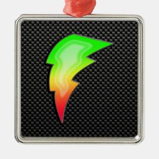 Sleek Lightning Bolt Ornament