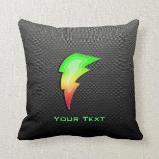 Sleek Lightning Bolt Throw Pillow