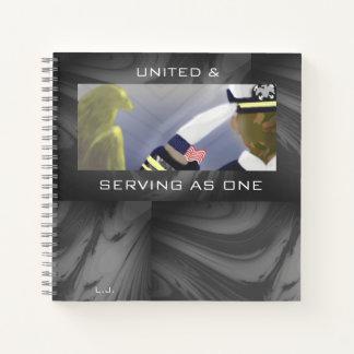 Sleek Marble U.S. Veteran Inspiration Notebook