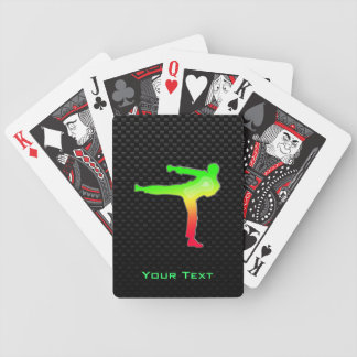 Sleek Martial Arts Bicycle Poker Cards