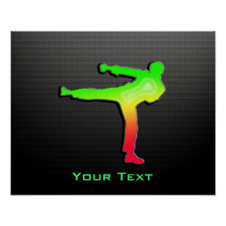 Sleek Martial Arts Poster