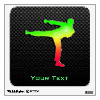 Sleek Martial Arts Wall Sticker