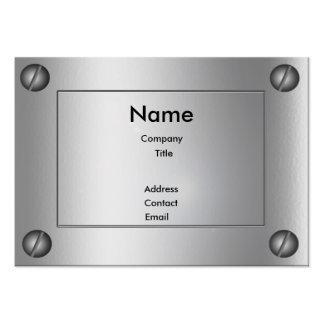 Sleek Metal Groovy - Business Card Template