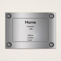 Sleek Metal Groovy - Business Card