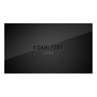 Sleek Modern Elegant Black Business Card