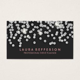 Beautiful diamond business cards templates zazzle sleek modern silver diamonds business card colourmoves