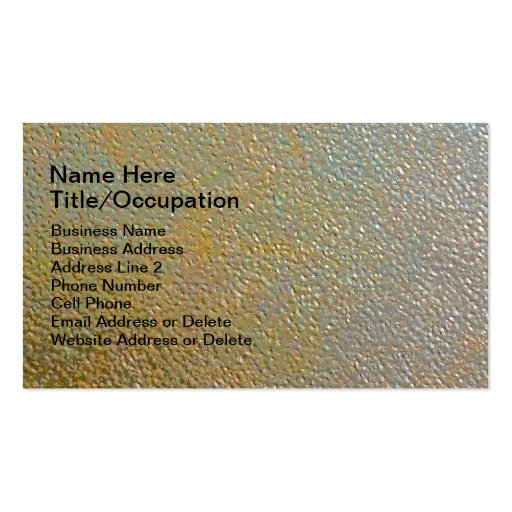 Sleek Modern Textured Metal Gold Silver Pitted Business Card Templates
