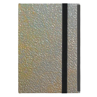 Sleek Modern Textured Metal   Gold Silver Pitted Cover For iPad Mini