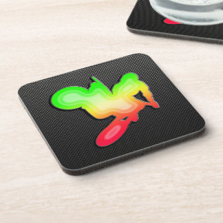 Sleek Motocross Whip Drink Coaster
